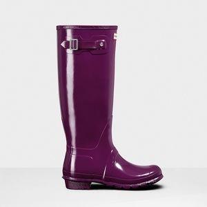 Purple Hunter Tall Wellies